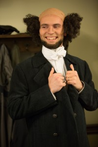Seminary student James Miller added a historical touch to the 175th anniversary celebration by dressing as Dr. C.F.W. Walther, the first president of Concordia Seminary.