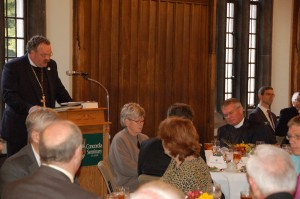 The Rev. Dr. Matthew C. Harrison, president of The Lutheran Church—Missouri Synod, speaks at a luncheon as part of the 175th anniversary celebration.