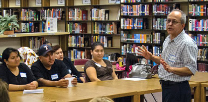 "Edilberto ""Beto"" Alzate teaches a parenting class at a North Dallas school."