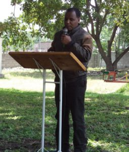 Tamrat Debessa delivers the opening message at a missiology workshop  in Ethiopia. Photo: Courtesy Tamrat Debessa