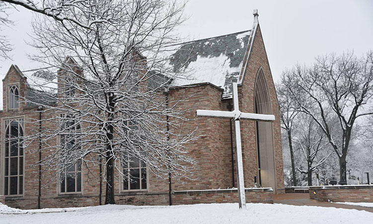 Chapel of St. Timothy and St. Titus in snow