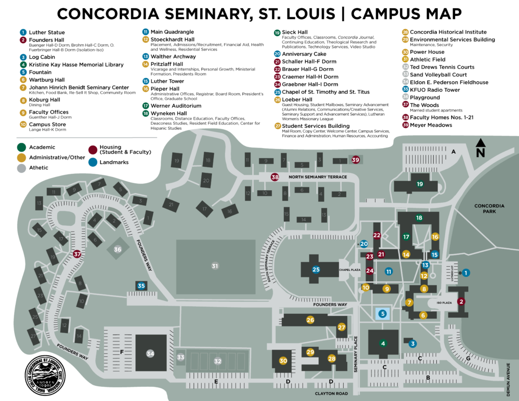 Concordia Seminary Campus Map