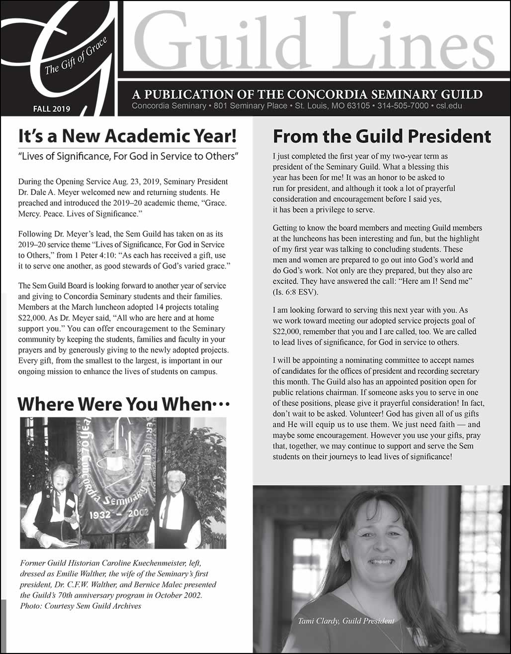 Concordia Seminary Guild Lines newsletter